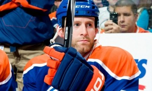 Ryan Whitney on the Oilers bench